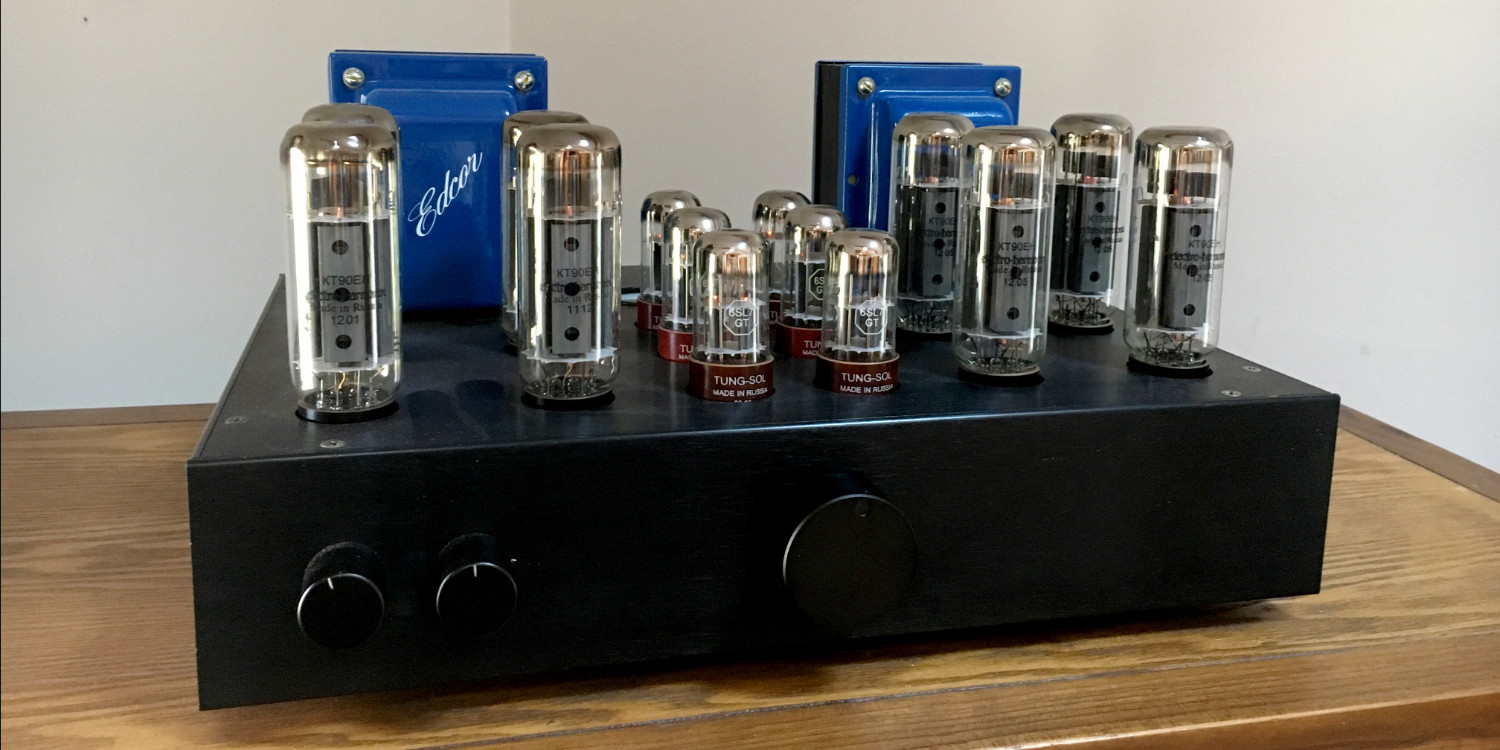 80w Parallel Push Pull Amplifier Transistor Power Below Is The Inside Of Completed Chassis No Expense Has Been Spared Ugh Each 8 Yellow Audiophool Capacitors 16